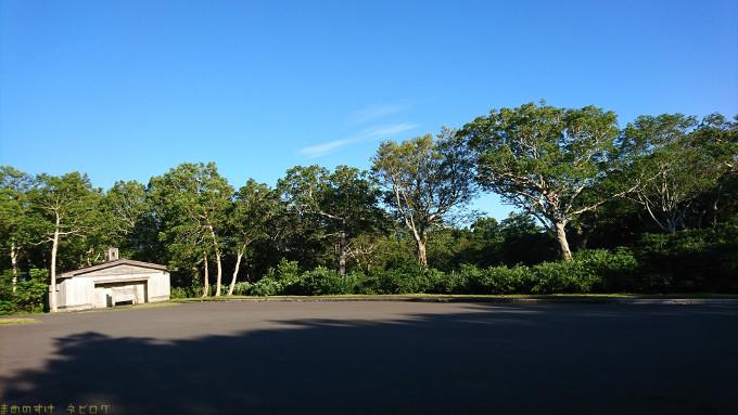 御鼻部山展望台の駐車場