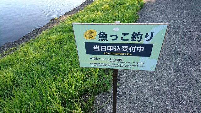 青森屋 公園内の魚っこ釣り